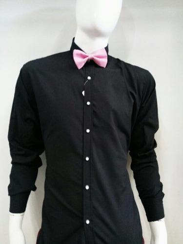 camisa negra men