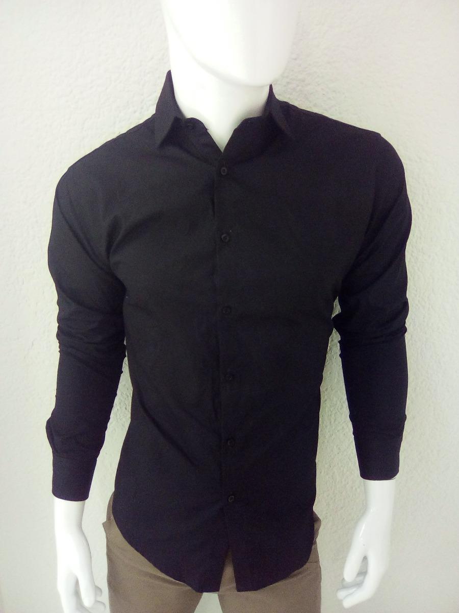76778d175f4cf Camisa Negra Para Caballero -   470.00 en Mercado Libre