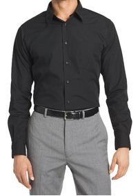 Camisa Negra Vestir De Hombre Talle Super Especial 5052