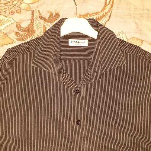 camisa negra ysl