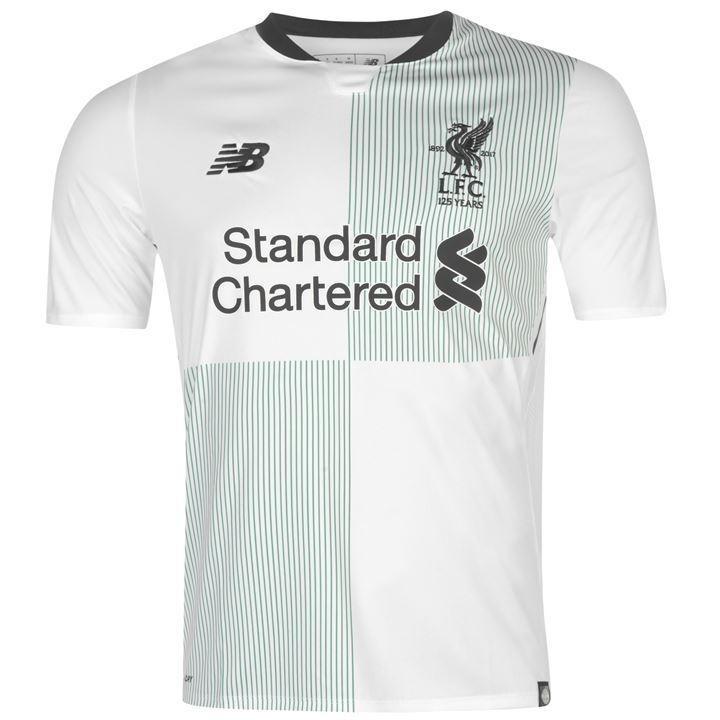 1ce495fbc Camisa New Balance Liverpool 2018 Away Oficial-branca verde - R  120 ...