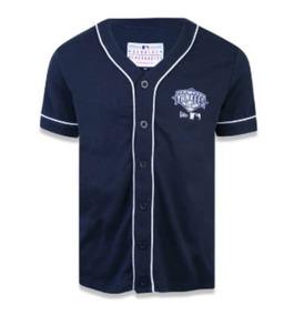 603acdb3e7 Camisa Baseball Com Botoes New Era no Mercado Livre Brasil