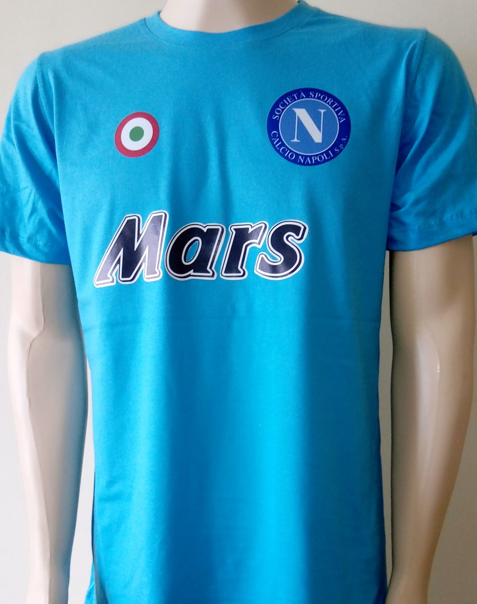 camisa new retrô napoli ( maradona ). Carregando zoom. 107c5bca54f4a