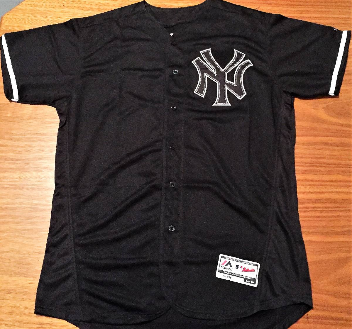 camisa new york yankees derek jeter preta majestic. Carregando zoom. d576de69cdb