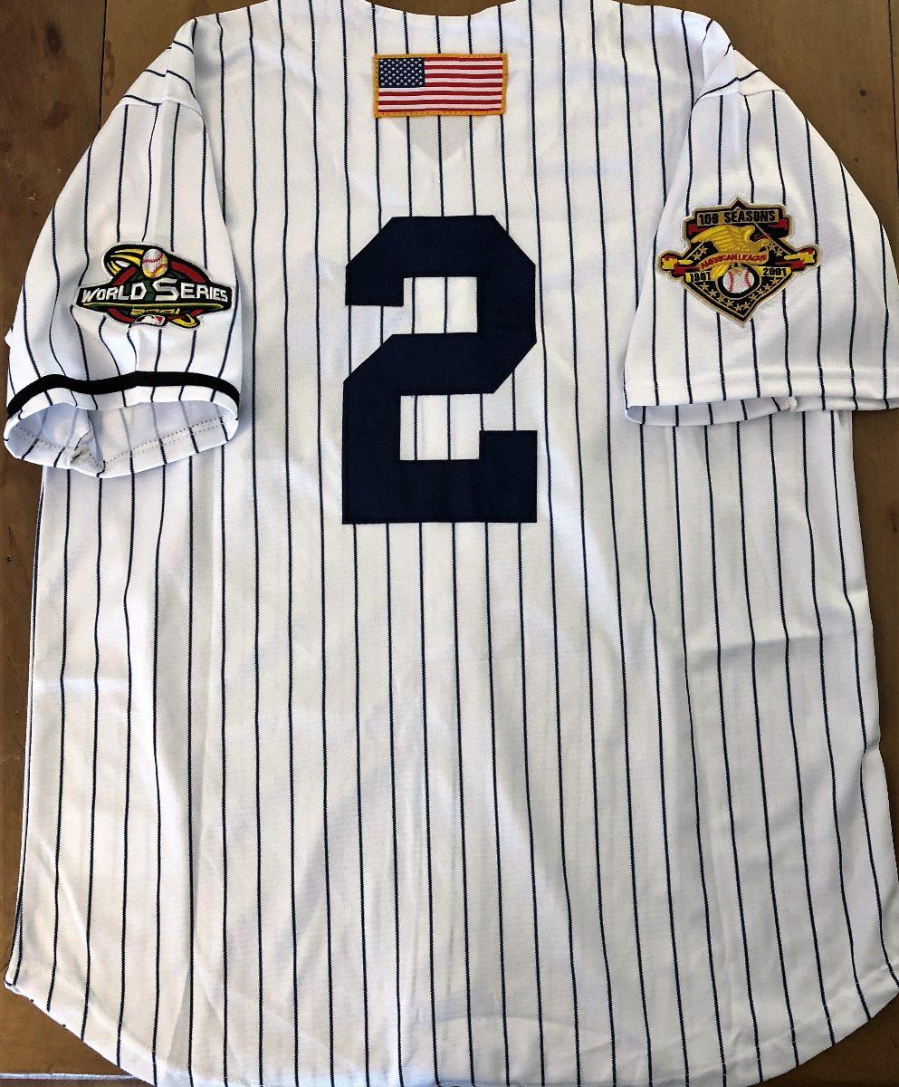 timeless design 9ad74 63e83 Camisa Series York Jeter 2 World Yankees 2001 Derek New ...