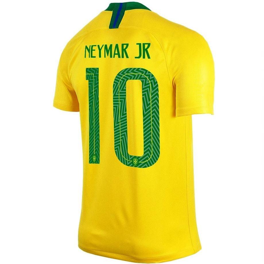 1c8fe7a6222eb Camisa Neymar Jr Seleçao Brasileira Copa Do Mundo 2018 Nike - R  117 ...
