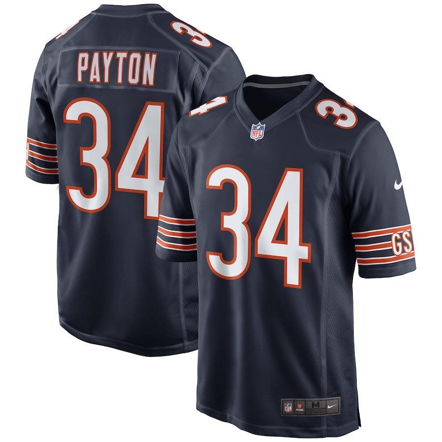 camisa nfl chicago bears 2 futebol americano  34 payton. Carregando zoom. 142d4ea614143