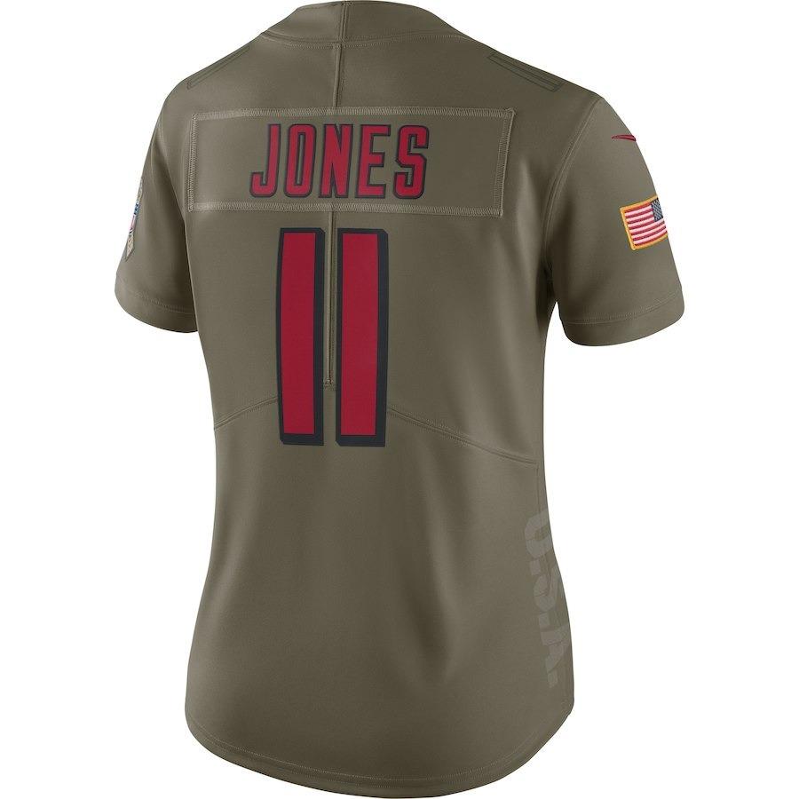 8c58b4f7ad camisa nfl fem atlanta falcons 6 futebol americano  11 jones. Carregando  zoom.