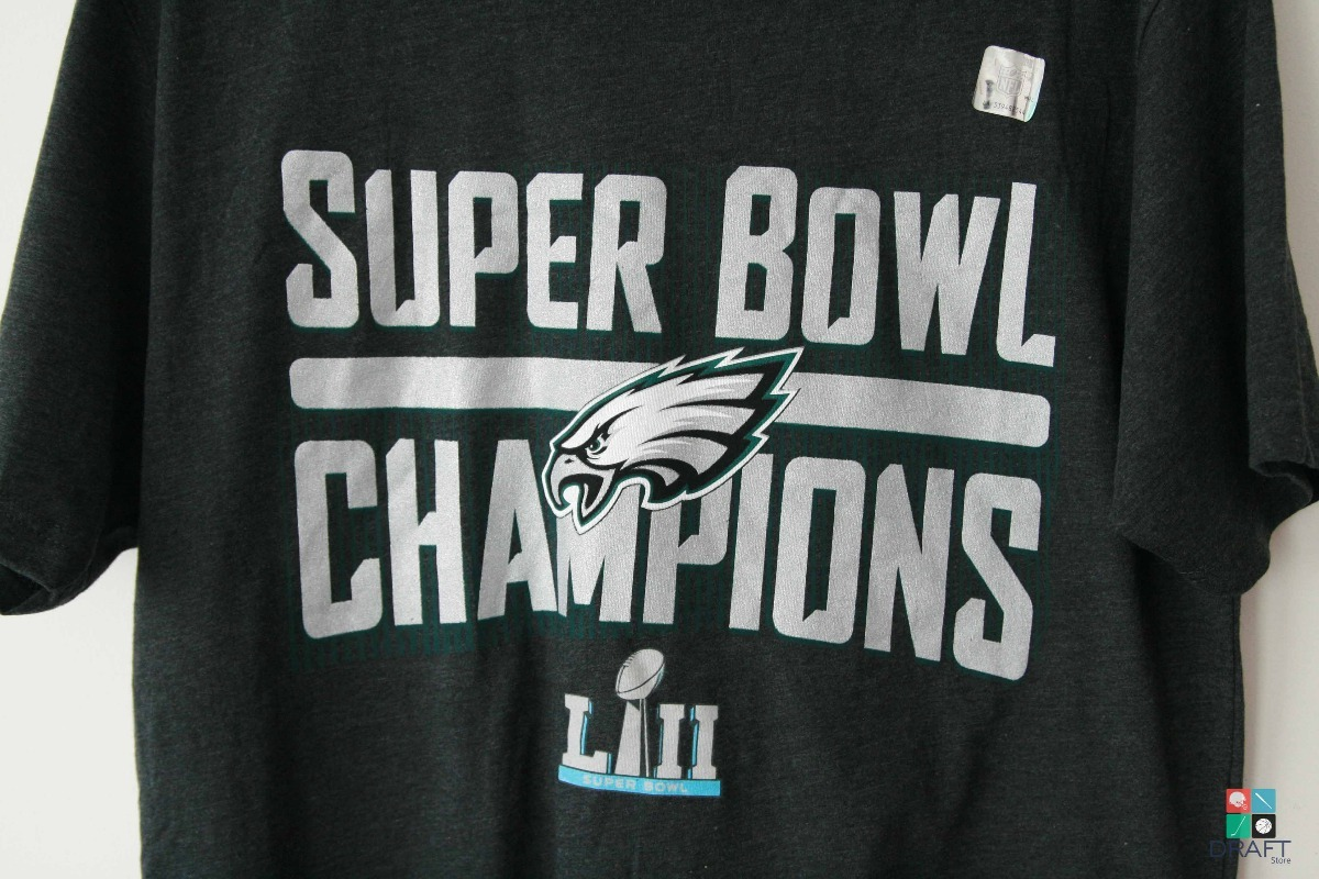 Philadelphia Eagles Super Bowl Champions Tshirt Sport Gray