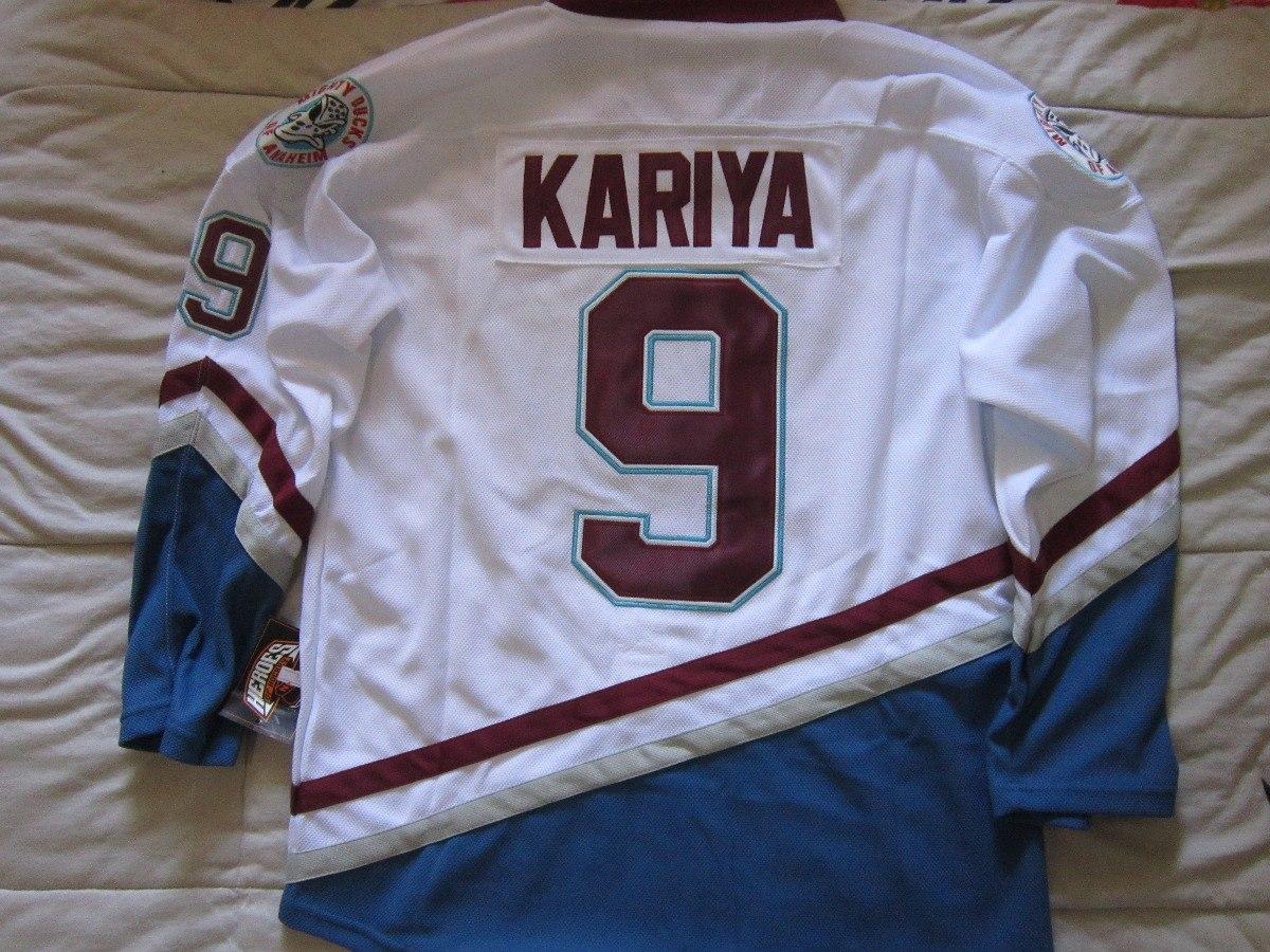 24a8d1b629c9a camisa nhl camisa anaheim ducks kariya branca. Carregando zoom.