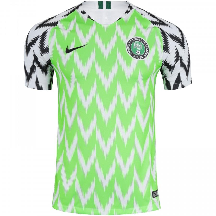 763edb9977 Camisa Nigéria 2017 2018 - Total Personaliza - R  159
