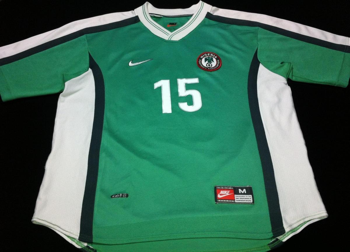 3361241194 Camisa Nigeria Home 1998  15 Oliseh ( Ver Fotos E Descricao) - R ...