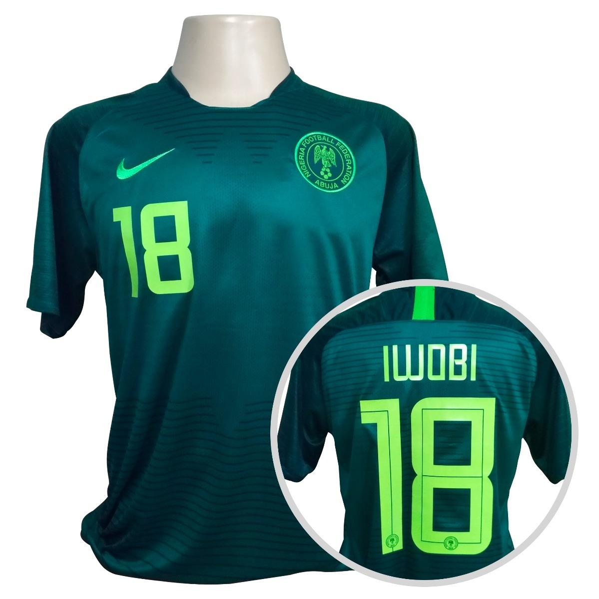 e8a11e13f3 camisa nigéria nike reserva copa 2018  18 iwobi. Carregando zoom.