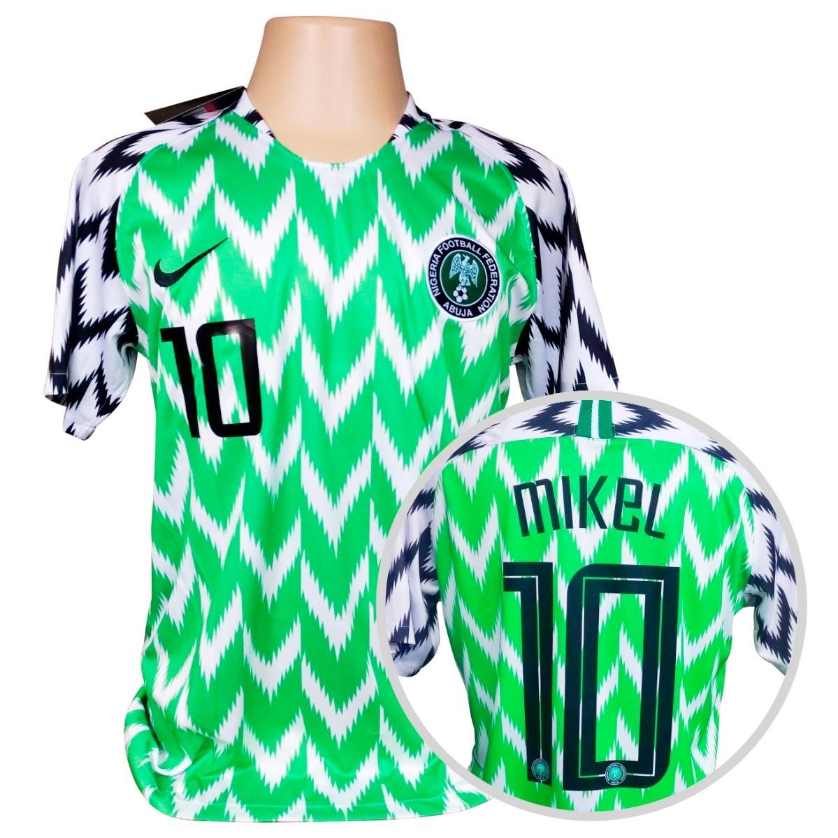 2c00aecdc3 camisa nigéria titular copa 2018  10 mikel. Carregando zoom.