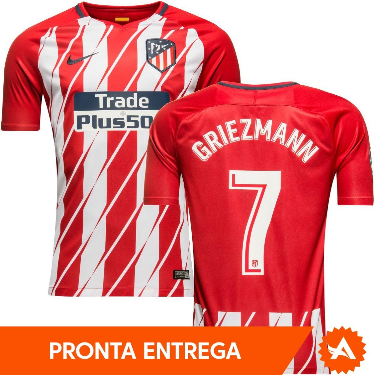Camisa Nike Atlético De Madrid Home Nº7 Griezmann 2018 Home - R  169 ... a85da59dea171