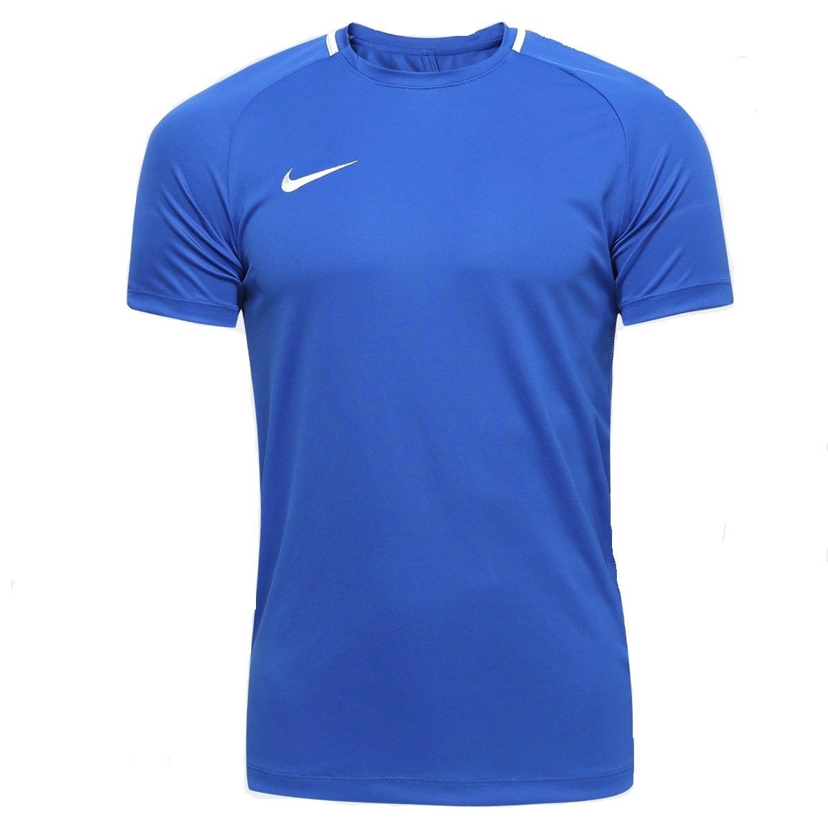 ee830a6054 camisa nike azul dry fit academy top adulto - original. Carregando zoom.