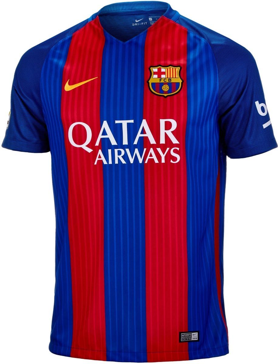 camisa nike barcelona 1 2016 2017 - infantil tam. m - g - gg. Carregando  zoom. 7602c1ca34c50
