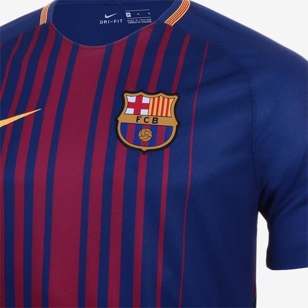 f5af1211cdb95 Camisa Nike Barcelona 2017 2018 - Sem Patrocínio - R  164
