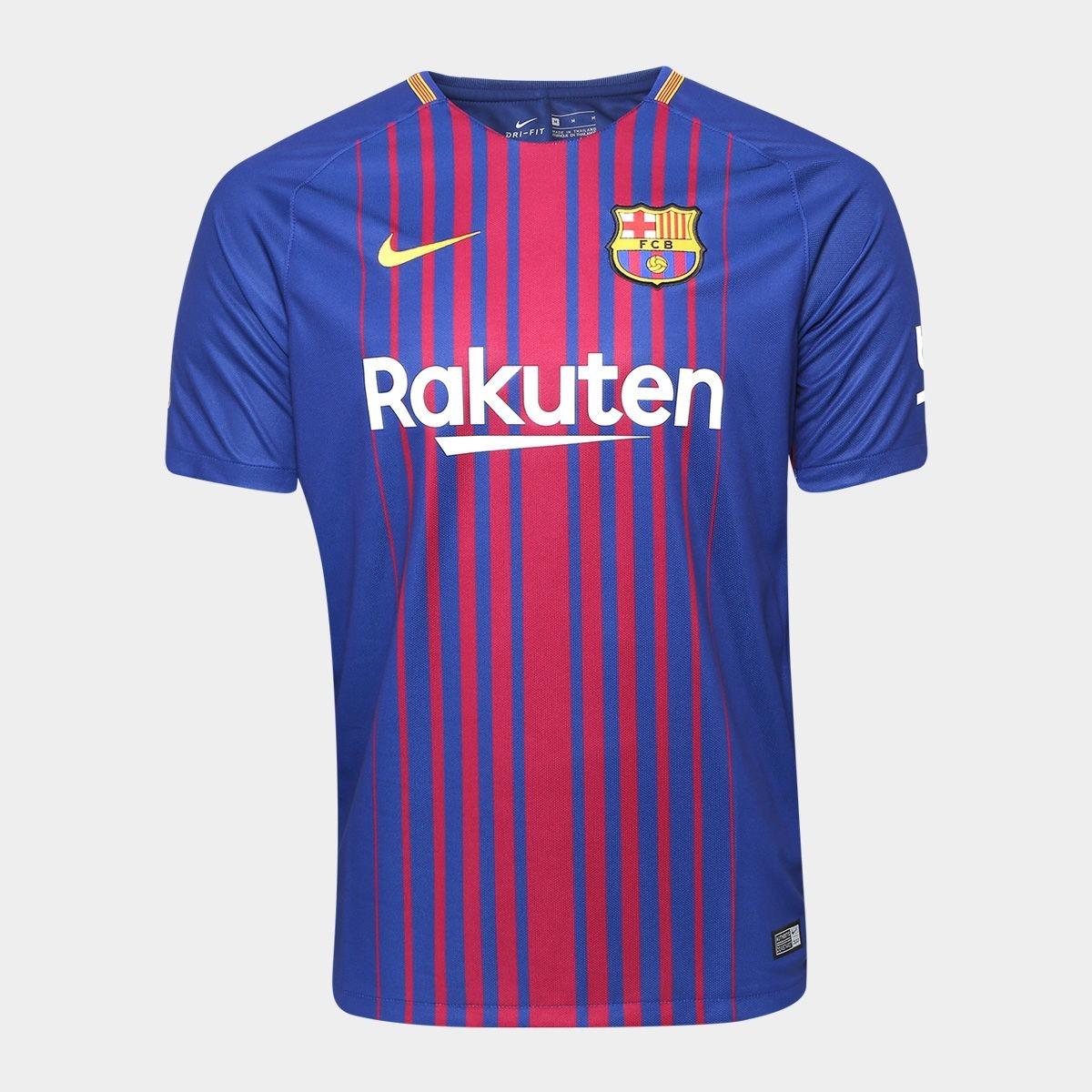 camisa nike barcelona 2018 messi 10 - foto real. Carregando zoom. f9c386ea25198