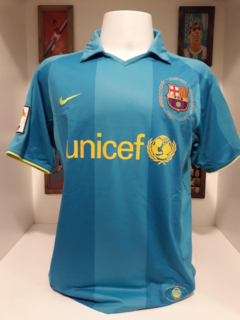 camisa nike barcelona 50 anos camp nou 2007. Carregando zoom. d246672899b05