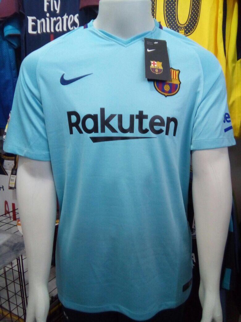 Camisa Nike Barcelona Away 2018 S n° - Azul Claro - R  100 91039db0582b4