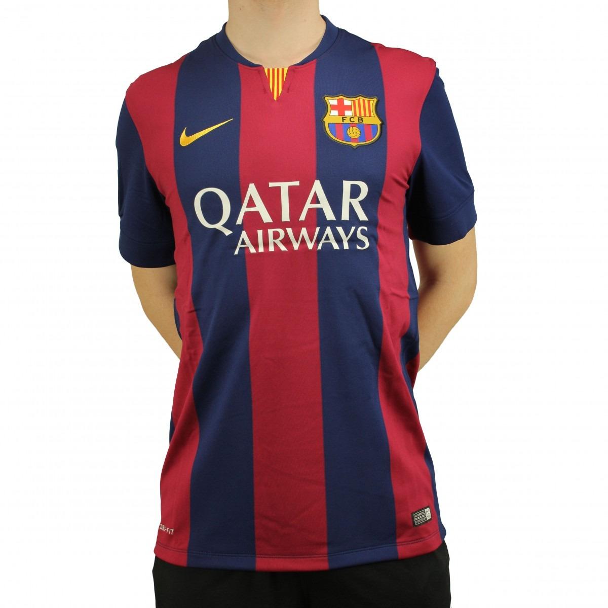 camisa nike barcelona home 2014 - loja freecs -. Carregando zoom. f0a5ce428f195
