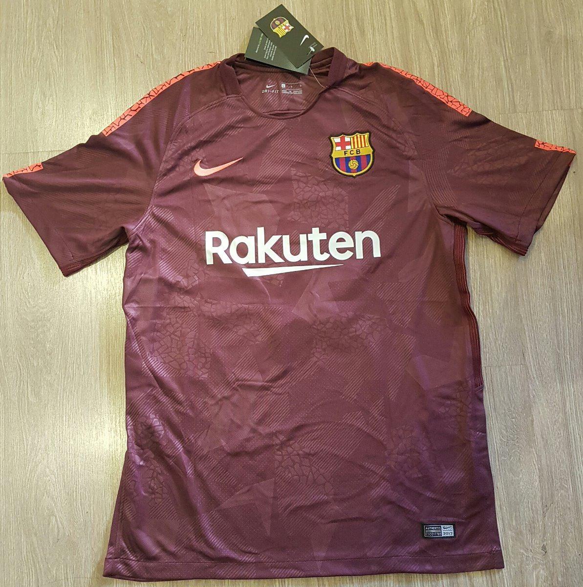 Camisa Nike Barcelona Third Torcedor 2017 2018 - Vinho - R  129 fd42332165fc8