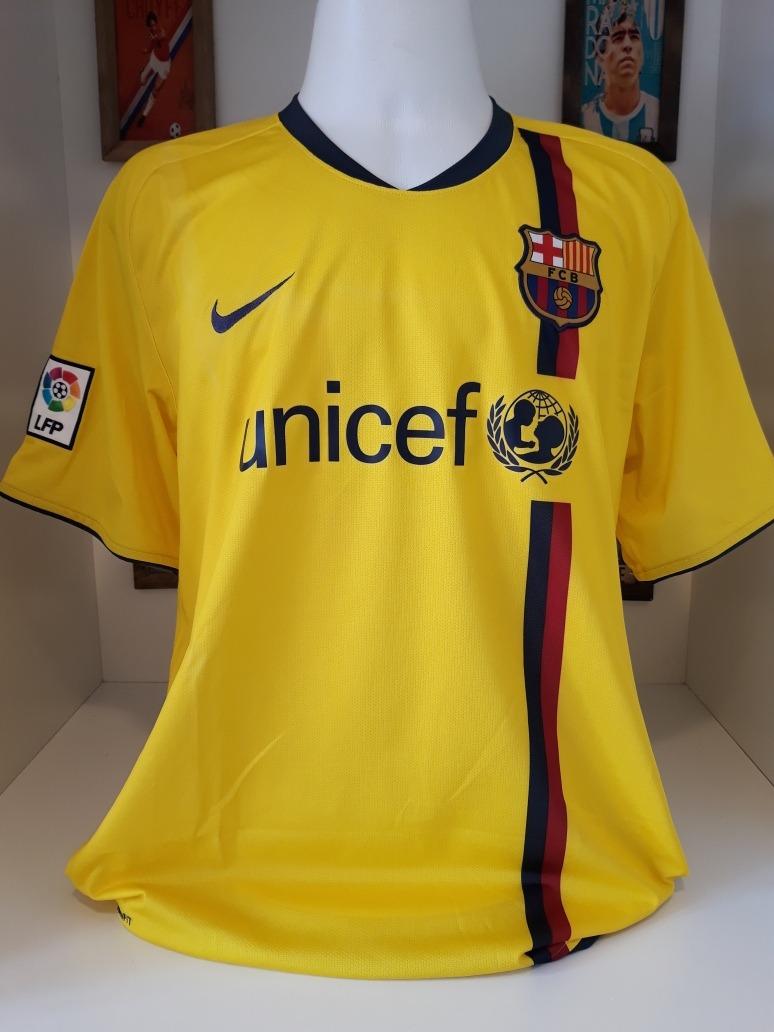 438e1de4b03d6 Camisa Nike Barcelona Unicef Sem Numero Amarela - R  165