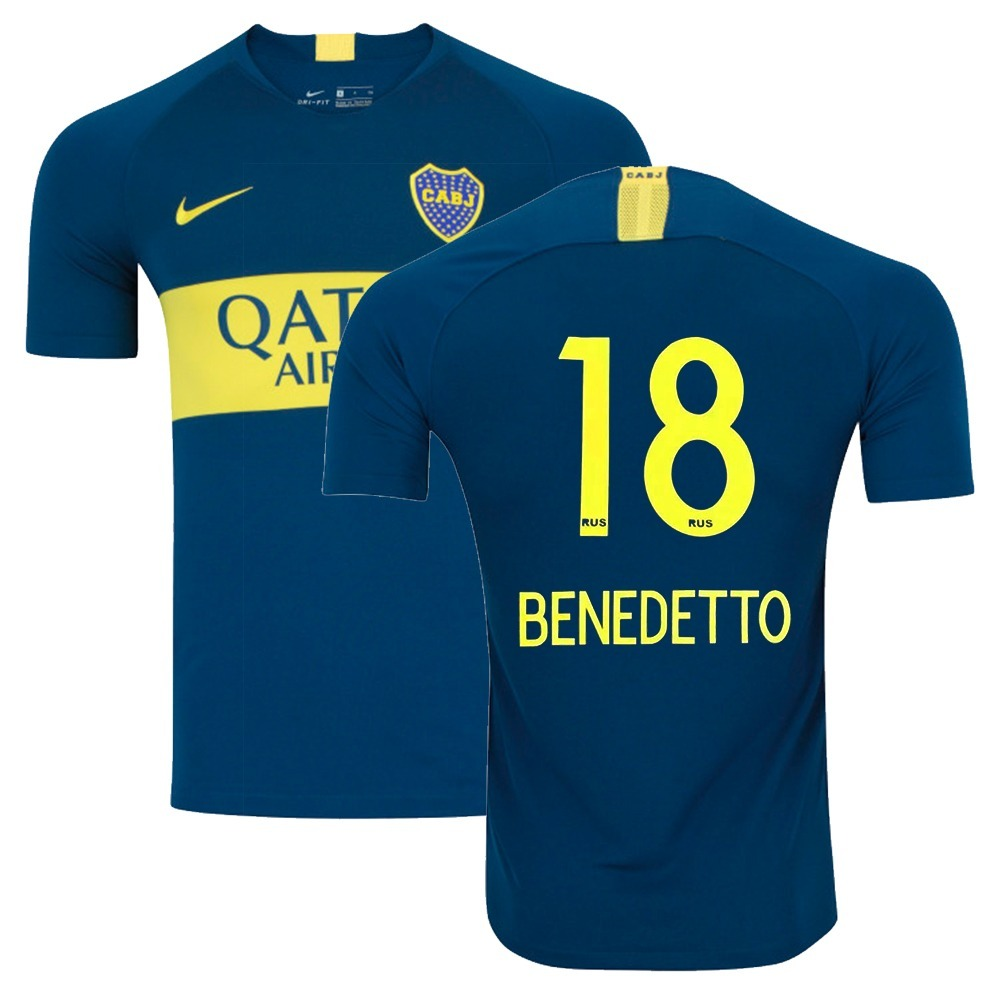 timeless design d63f4 ee1bb Camisa Nike Boca Juniors 1 Home Benedetto 18 Original