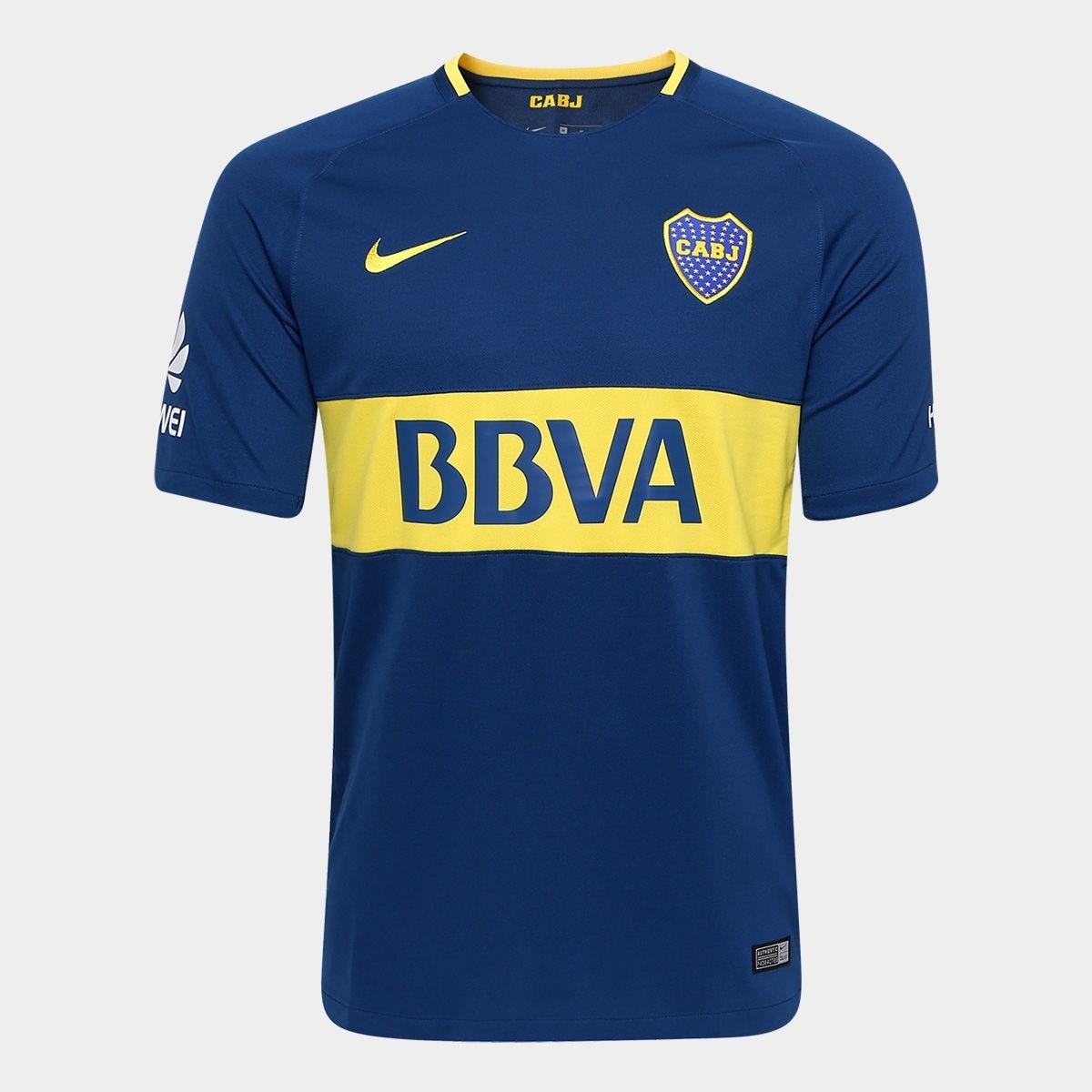 Camisa Nike Boca Juniors Home 2018 S n° - Azul E Amarelo - R  130 acff5c54e77a8