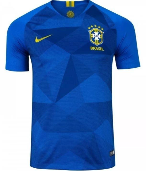 b9e2eb5cd4 Camisa Nike Brasil 2018 Oficial - Azul - Original - S n - R  100