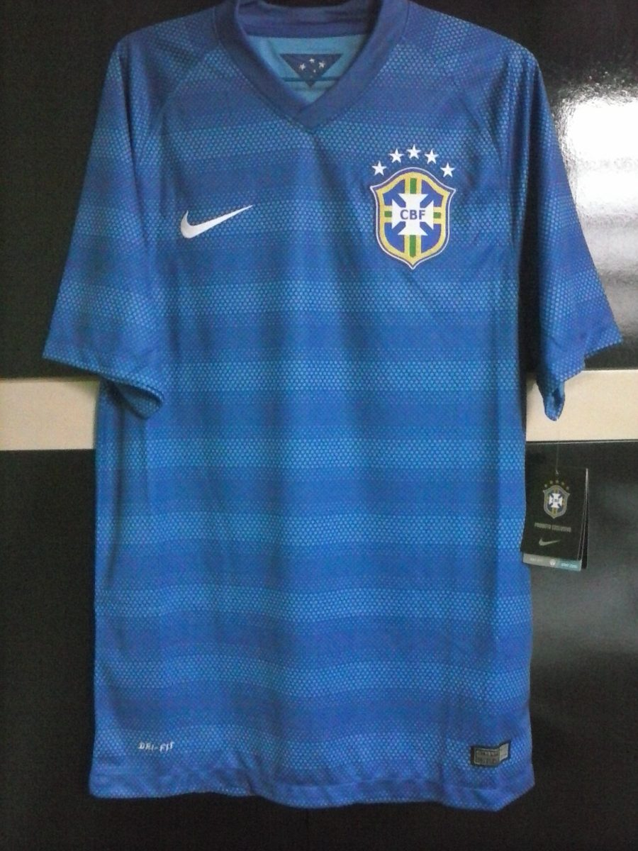 camisa nike brasil away 2014-2015 sweepet. Carregando zoom. e6646363e67fd