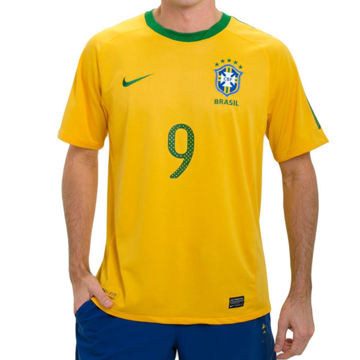 Camisa Nike Brasil Cbf 2010 Original Nova +tag +nf Fr Grátis - R ... 15cbe3e0f4421