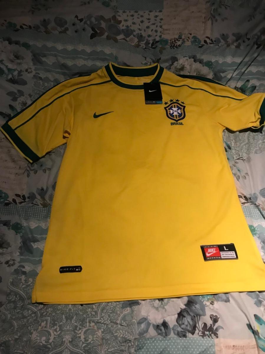 camisa nike brasil copa 98 ronaldo r. carlos rivaldo dunga. Carregando zoom. 34a041eabe070