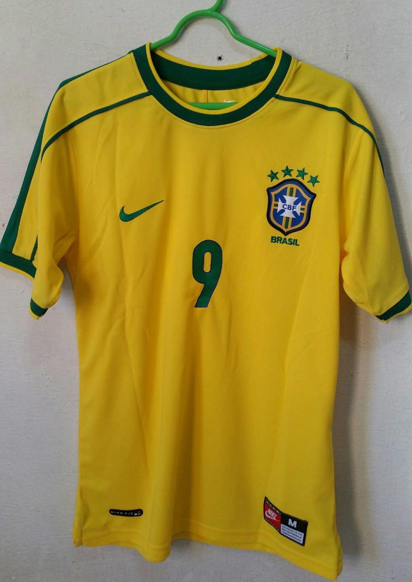 c77484ccf7 Camisa Nike Brasil Copa 98 Ronaldo R. Carlos Rivaldo Dunga - R  329 ...