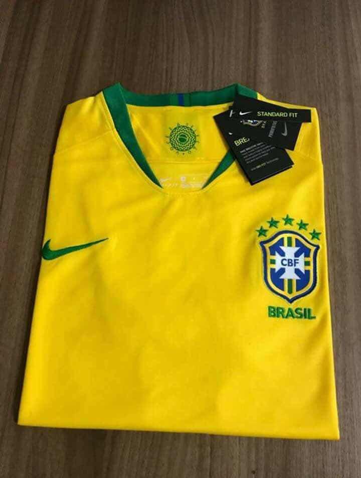 camisa nike brasil i 2018 19 jogador masculina. Carregando zoom. 4b2c1d8954fa9