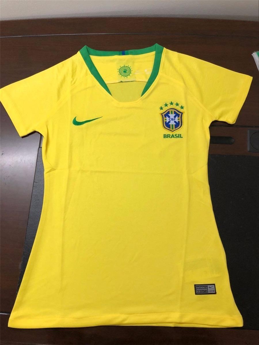 459e37a4f59eb camisa nike brasil i 2018 19 torcedora feminina. Carregando zoom.
