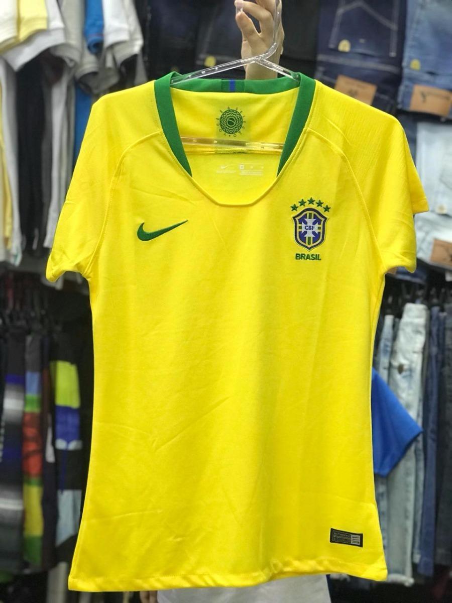 7230874265cfb camisa nike brasil i 2018 19 torcedora feminina - amarela. Carregando zoom.