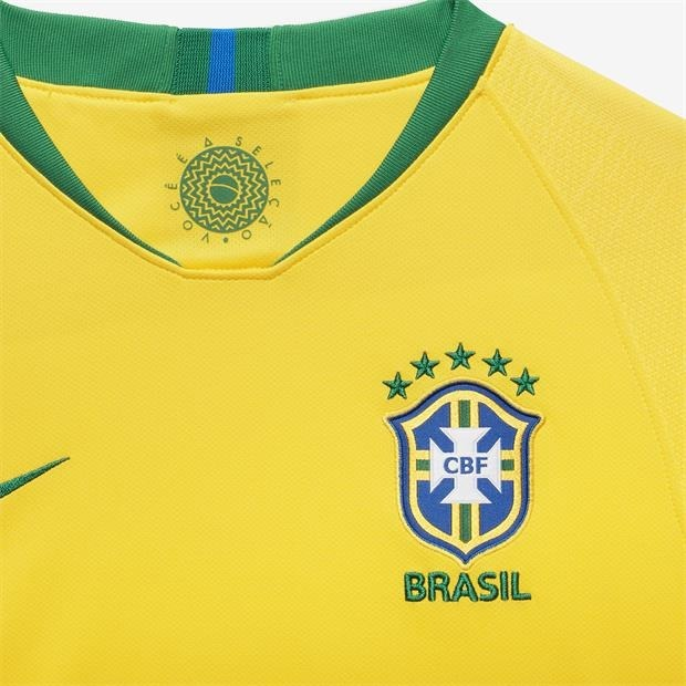 544e1923d07e3 Camisa Nike Brasil I 2019 Torcedor Infantil Original 893970 - R  269 ...