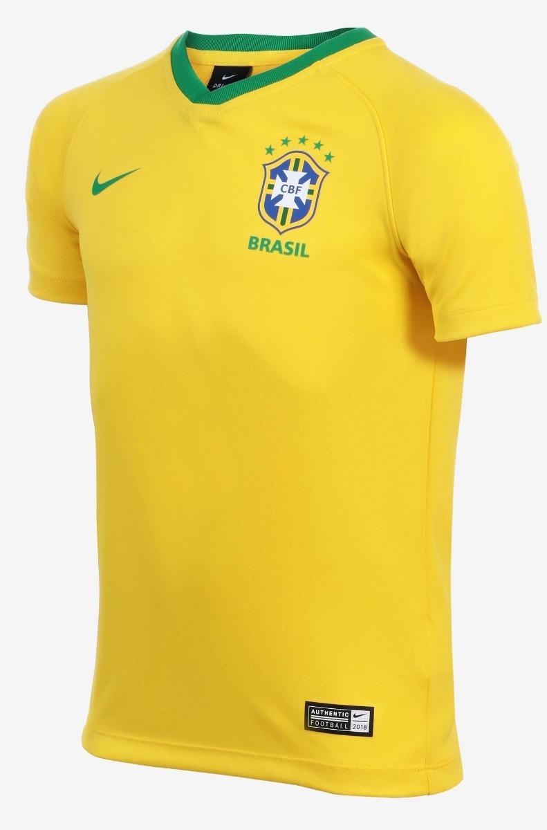 4b11686d1 camisa nike brasil i torcedor estádio infantil - original. Carregando zoom.