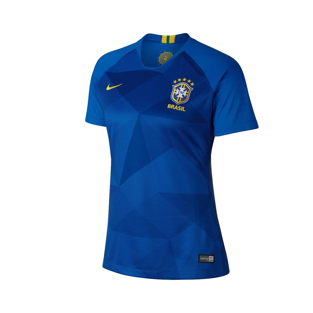 camisa nike brasil ii 2018 19 torcedora feminina p. Carregando zoom. ab82255191347