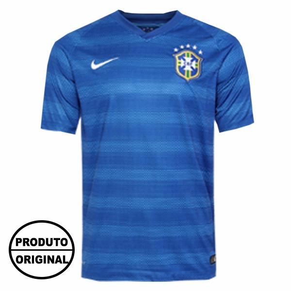 b686abf2db ... Feminina f3263a78d9e36b  Camisa Nike Brasil Seleção Azul - R 157