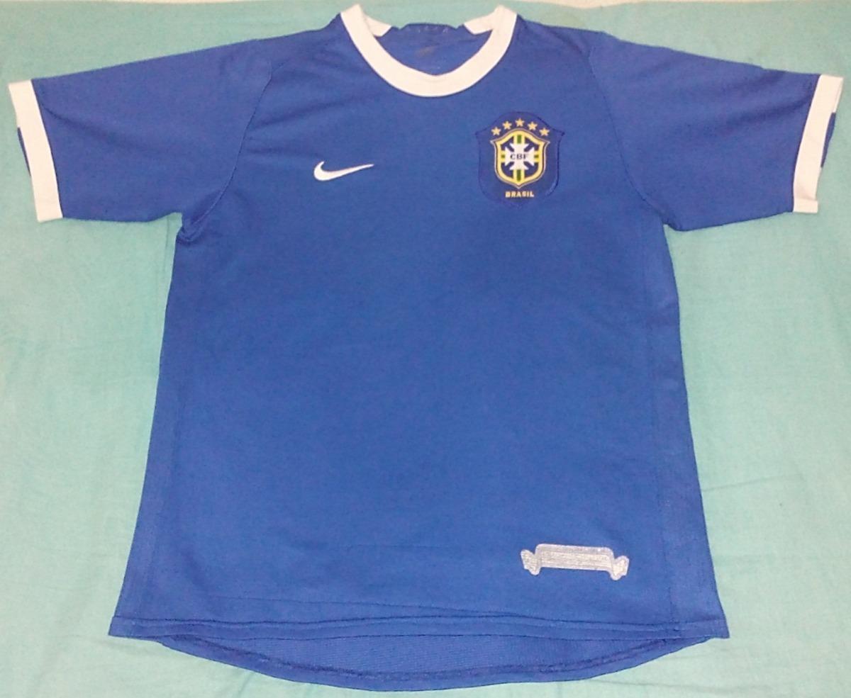 061cf4f56c camisa nike brasil seleção brasileira azul copa 2006  s n. Carregando zoom.