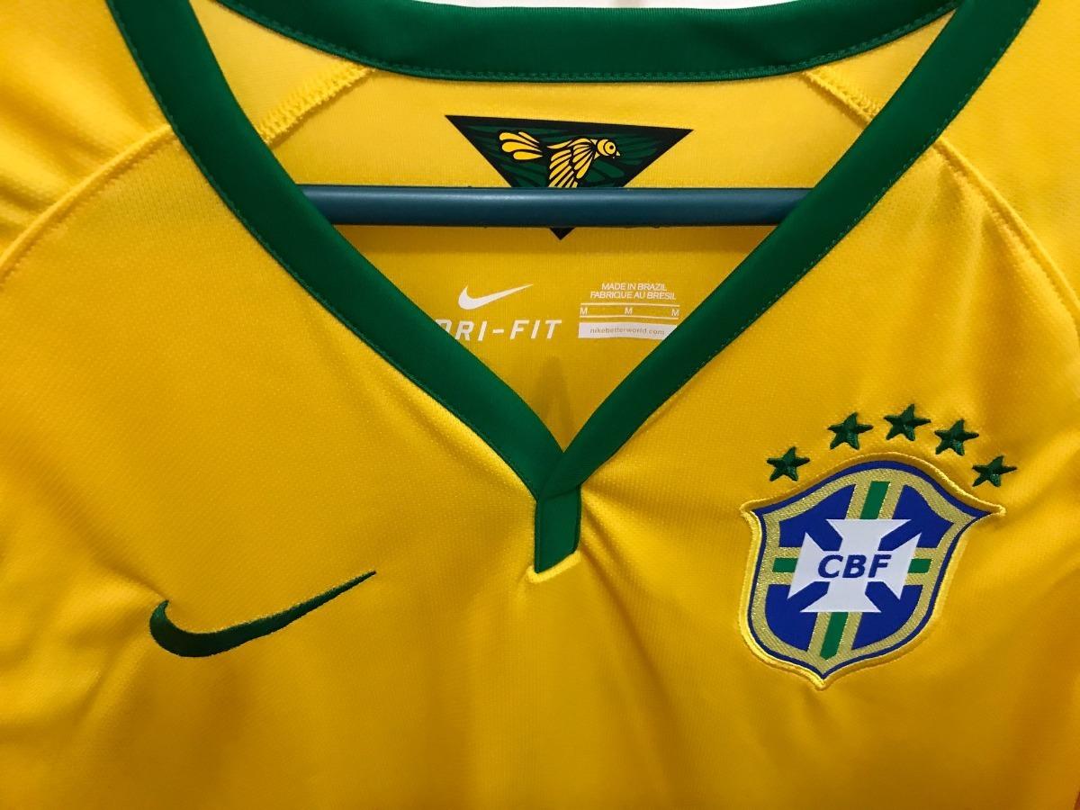 camisa nike brasil seleção copa 2014 - 3 t. silva. Carregando zoom. 5fcf7306f748f