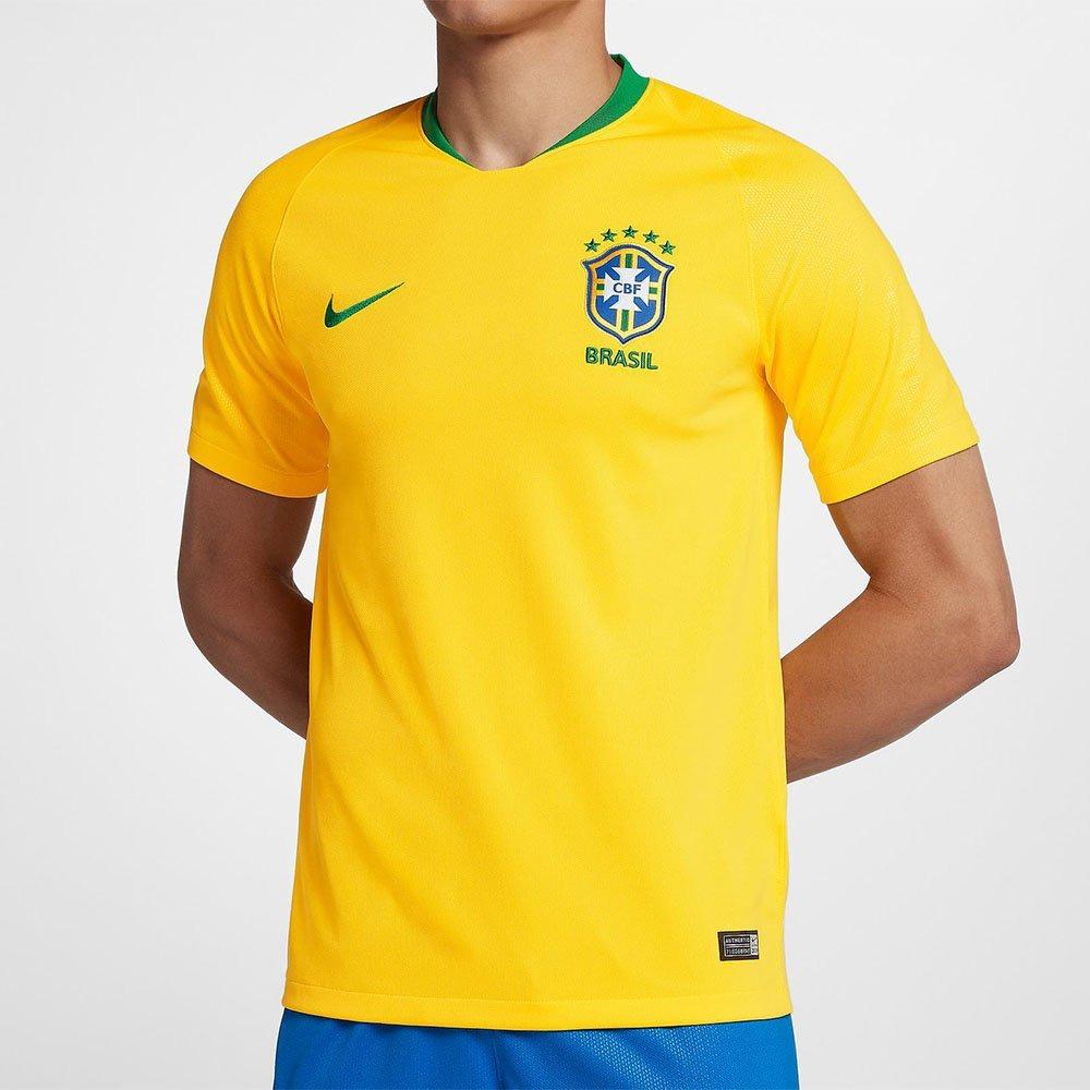 camisa nike cbf seleção brasil i 2018 torcedor tênis preto. Carregando zoom. 964376433f1b0