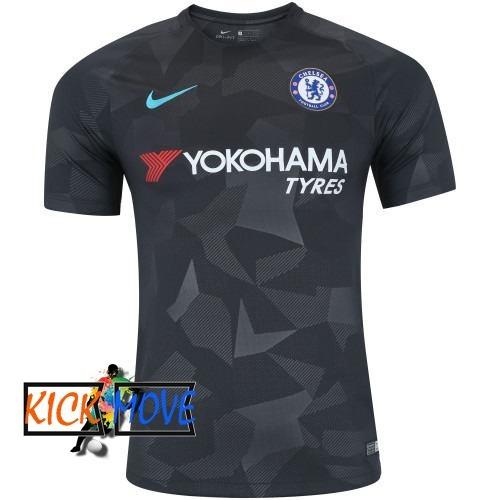 29a9de0270bd7 Camisa Nike Chelsea Iii Preta 20172018 Torcedor Kickmove - R  129