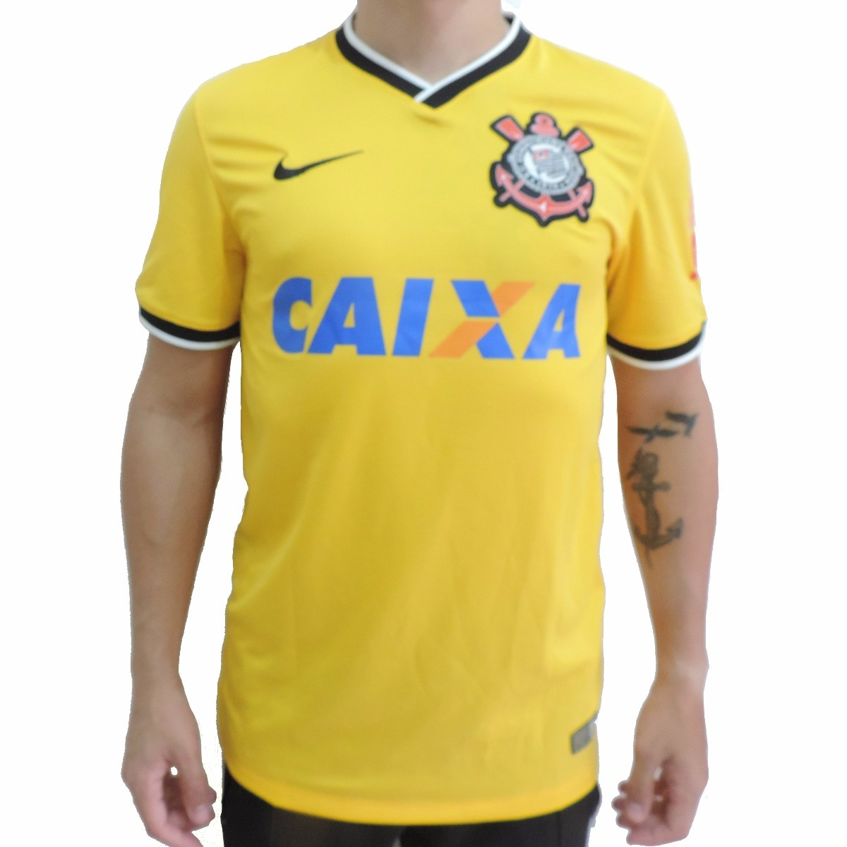 cf59bd122d Camisa Nike Corinthians 14 Oficial Amarela De R 129