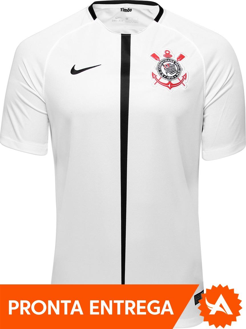 camisa nike corinthians 2017 home branca - pronta entrega. Carregando zoom. 0cd1d82547def