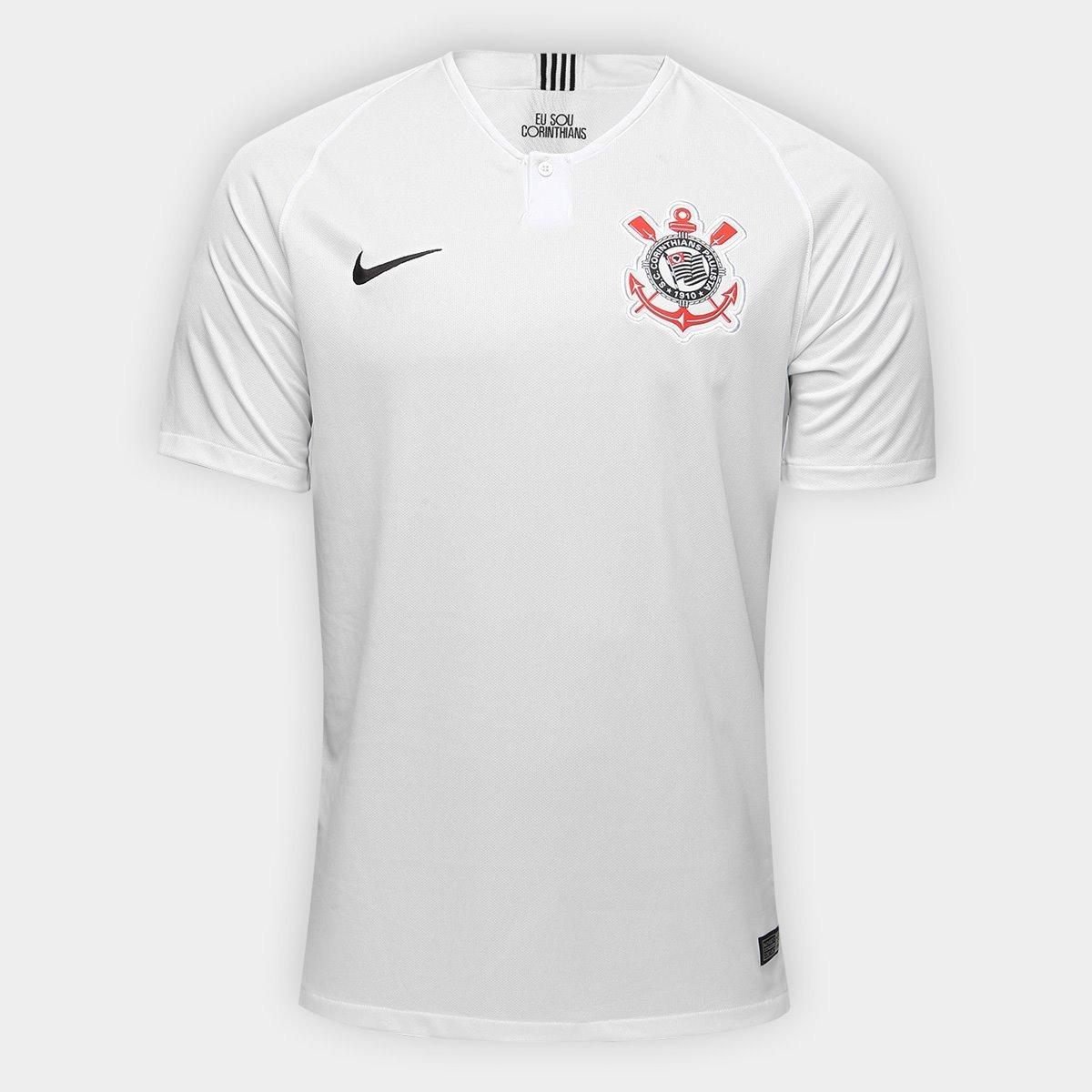 camisa nike corinthians 2018 2019 i branca. Carregando zoom. 7c7bfee0da133