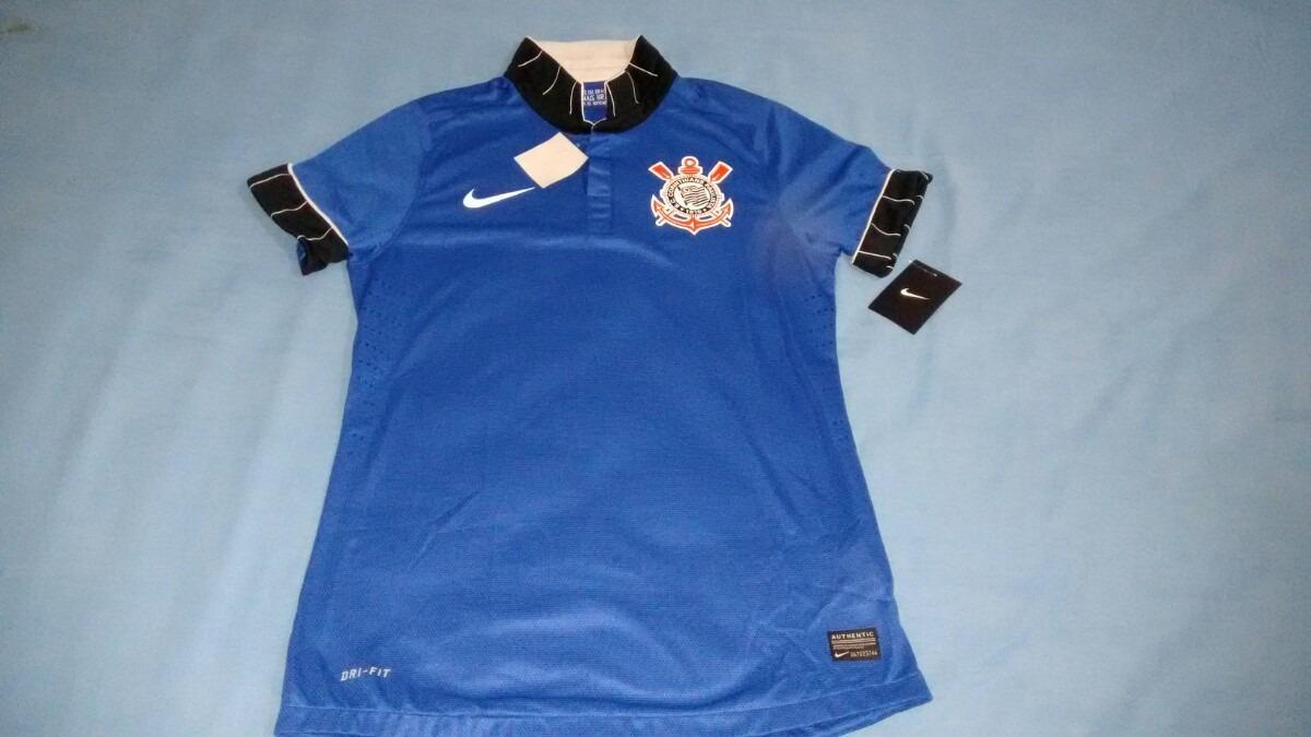 camisa nike corinthians azul 2013 jogador masculina. Carregando zoom. aac10b98a6180